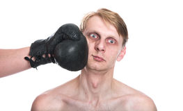 The ridiculous boxer Stock Photo