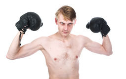 The ridiculous boxer Royalty Free Stock Photos
