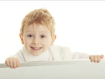 The ridiculous boy Stock Images