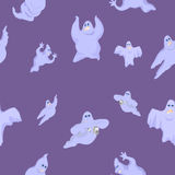 Ridiculous and funny ghosts on Halloween Stock Images