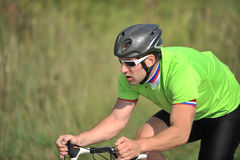 riding велосипедиста велосипеда Стоковое фото RF