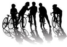 riding группы Стоковая Фотография
