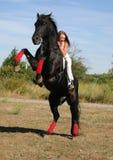 riding девушки Стоковые Изображения RF