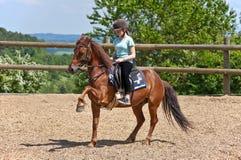 riding девушки стоковое фото
