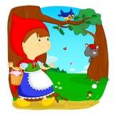 riding клобука красный Иллюстрация вектора