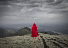 riding клобука красный Стоковые Изображения