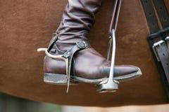 riding лошади ботинка Стоковое фото RF