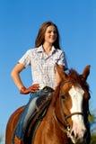 riding лошади девушки Стоковое Фото