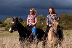 Riding лошади Стоковые Изображения RF