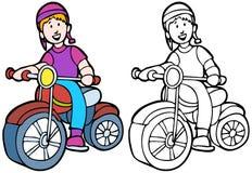 riding малыша bike Стоковая Фотография RF