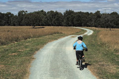 riding мальчика bike стоковая фотография