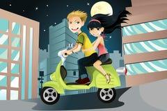 riding мотоцикла пар Стоковое фото RF