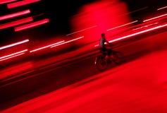 riding ночи bike Стоковое Изображение RF