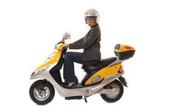 женщина самоката riding Стоковое фото RF