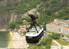 Riding Air Tram Royalty Free Stock Images