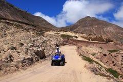 Riding ATV - Quad stock photo