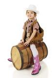 Riding the Barrel Royalty Free Stock Photo