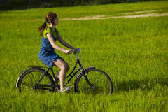 Riding a bicycle Royalty Free Stock Image