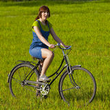 Riding a bicycle Royalty Free Stock Images