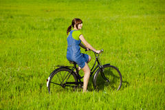Riding a bicycle Royalty Free Stock Photos