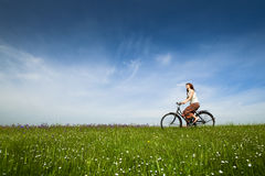 Riding a bicycle Royalty Free Stock Photo