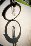 Riding the bicycle Stock Photography