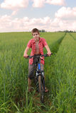Riding a bicycle Stock Photos