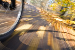 Riding bicycle. Abstract motion blur. Royalty Free Stock Images