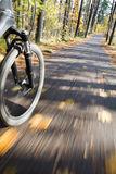Riding bicycle. Abstract motion blur. Royalty Free Stock Photography
