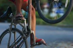 Riding bicycle Stock Photos