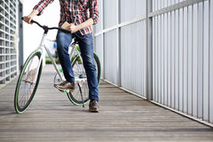 Riding bicycle Stock Photography
