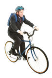 Riding Bicycle to Work Stock Images