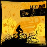 Riding bicycle vector. Riding bicycle illustration background vector royalty free illustration