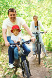 Riding bicycles Stock Photo