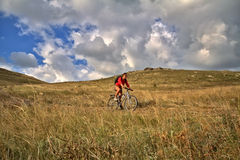 Riding bike Royalty Free Stock Photos