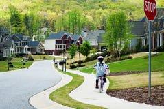 riding дома девушки bike Стоковые Изображения RF