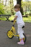 Riding a bike Stock Photography
