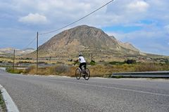 Cycling In Stunning Scenery Royalty Free Stock Image