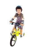 Riding bike happy Royalty Free Stock Images