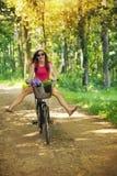 Riding on bike Stock Photos