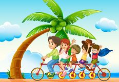 Riding bike Royalty Free Stock Images