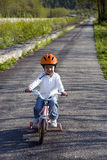 Riding bike in a park Stock Photo