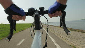 Riding a bike stock video
