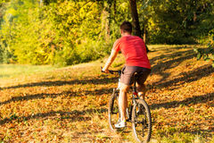 Riding a bike Royalty Free Stock Images