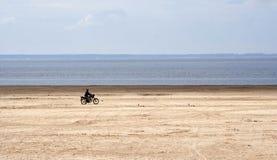 Riding biker Royalty Free Stock Photo