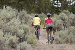 Riding Bikes on Trail Royalty Free Stock Photo