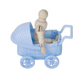 Riding in a Blue Carriage Royalty Free Stock Photo