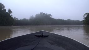 Riding Boat at Misty Tropical River in the Morning. POV. Riding Boat at Misty Tropical River in the Morning shot with a Sony a6300 fps29,97 4k stock video