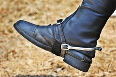 Riding boot Stock Photo