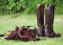 Riding Boots and Equipment Royalty Free Stock Image